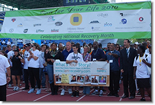 "photo of Your Story Matters Campaign Spotlights at starting line for ""Recovery Celebration Walk"""
